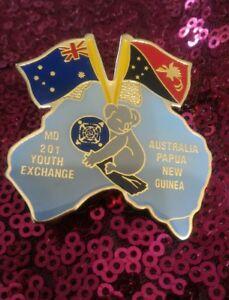 spilla, doppia bandiera, Australia Papua New Guinea con koala