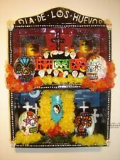 "DAY OF THE DEAD Altar OFRENDA Retablo SHADOWBOX ""DIA DE LOS HUEVOS"" Custom Made"