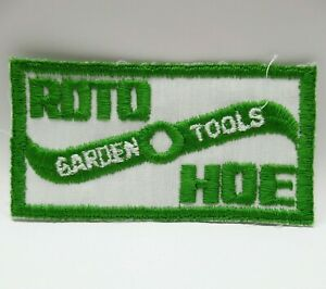 """Vintage Patch - Roto Hoe - Garden Tools - Embroidered Blade Picture - 4"""""""