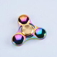 Fidget Spinner EDC ADHS Toy Spielzeug Anti Stress Spinning Metal rainbow