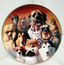 Cats And Dogs Royal Doulton Franklin Mint Heirloom All In The Family Limited Edt