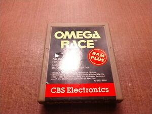 Atari 2600 Cart Only Tested Omega Race Ships Fast CLEAN LABEL