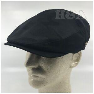 100% Cotton Men's Cabbie Newsboy Snap Bill Golf Hat Camo Black Hollywood Ivy Cap