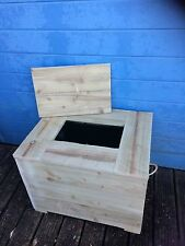 Recycling Box Store Cover Wooden Outdoor or indoor  Garden Bin Storage Tidy