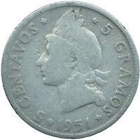 1951 DOMINICAN REPUBLIC  / 5 CENTAVOS    #WT24782