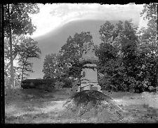 123rd New York Monument GETTYSBURG BATTLEFIELD PA 1899 Glass Plate Negative 2