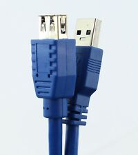 5m USB 3.0 Type A to A Extension Cable Extn FAST USB3 Male / Female Lead Blue