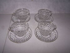 FOSTORIA AMERICAN 4 CUPS AND 4 SAUCERS #2