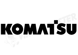 Komatsu Car Sticker, Digger Excavator Bull Dozer Tool Box Sticker