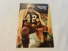 1974 Green Bay Packers Official Media Guide Book John Brockington on cover