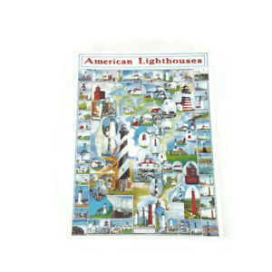 WHITE MOUNTAIN  AMERICAN LIGHTHOUSES 1000 PIECE PUZZLE  COMPLETE