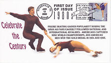 RRAGS CACHET FIRST DAY COVER FDC 2000 CELEBRATE THE CENTURY FIGURE SKATING
