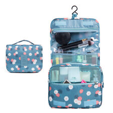 Floral Hanging Roll Up Bag Toiletry Bag Waterproof Cosmetic Makeup Case Foldable