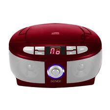 Stereo CD-Player mit Radio Boombox mit praktischem Tragegriff Denver TC-26 rot