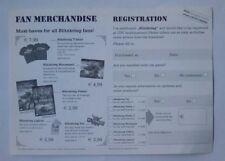 ***RARE*** Blitzkrieg Product Registration & Merchandise Flyer PC