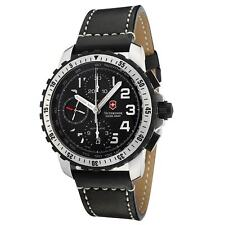 Swiss Army 241195 Gent's Chrono Black Leather Band Automatic Watch