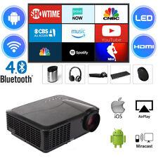 4500 Lumen Beamer Android WIFI Bluetooth Heimkino 1080P HDMI USB LED Projektor