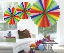 I fan A NIDO D'APE 45cm stanza o Festa Decorazione Multi Colore Confezione Da 3