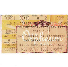 TORI AMOS Concert Ticket Stub MEMPHIS TN 10/7/98 THE ORPHEUM THEATER Rare