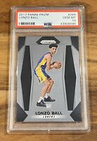 Lonzo Ball 2017 Panini Prizm Base Rookie RC New Orleans Pelicans PSA 10