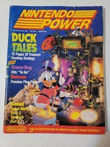 Nintendo Power Magazine Volume 8 Sept/Oct 1989 DuckTales Tip Book + Poster