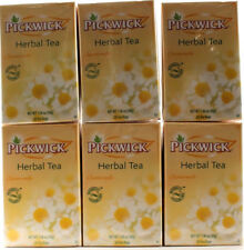6 Pickwick Herbal Tea Chamomile Naturally Caffeine Free Taste Of Fruits 120 Bags