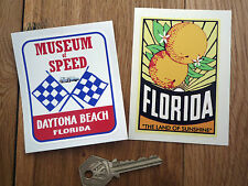 FLORIDA ORANGE DAYTONA  Classic American car stickers