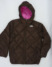 The North Face Girls Reversible Moondoggy Down Jacket Bacio Brown Pink  NWT XL
