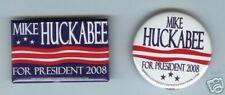 2 dif Mike HUCKABEE President 2008 PATRIOTIC pins