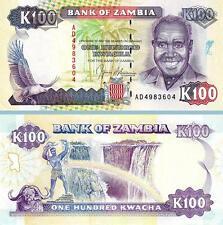ZAMBIA 100 KWACHA 1991, UNC, ½ BUNDLE, CONSECUTIVE PACK OF 50 PCS, P-34