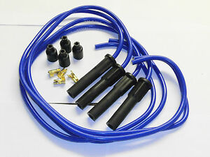 Fits SUZUKI GSF1200 TAYLOR BLUE ignition leads & moulded long boot plug caps.