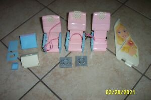 Vintage 1999 BARBIE Airplane JUMBO JET ~ Replacement Tail Fin Chairs Doors Bins