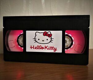 Hello Kitty Night Light, Desk Lamp, Movie, VHS, Gift, Office, Cat, Animal, Game