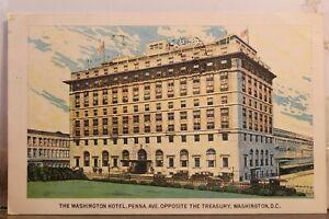 Washington DC Hotel Treasury Pennsylvania Avenue Postcard Old Vintage Card View