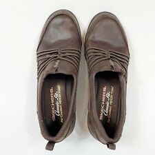 SKECHERS Classic Fit Air-Cooled Memory Foam Brown Slip On Shoes Sz 7