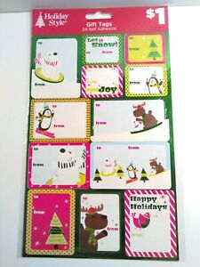 Christmas Lot 6 Pk Peel Stick Adhesive Holiday Present Gift Tags 432 Stickers