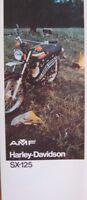 1974 Harley-Davidson ORIGINAL SX-125 Motorcycle Brochure Xlnt 74 Motorcycles