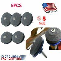 5pcs Lawn Mower Blade Sharpener Sharpening Stone Grindstone Universal Tools