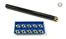 Barra de perforación izquierda Ø = 12 mm sducl 07 + 10 placas de inflexión dcmt 070202 Tin F. acero nuevo