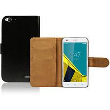 Vodafone Smart Ultra 6 Case Cover Black Pu Leather Wallet