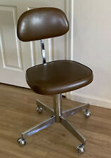 Mid Century Mod Desk Chair Bassick Steno Adjustable Faux Leather