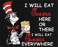 Cat in the Hat Chick Fil A  STICKERS DECALS tool box refrigerator