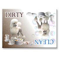 POODLE Clean Dirty DISHWASHER MAGNET Must See DOG
