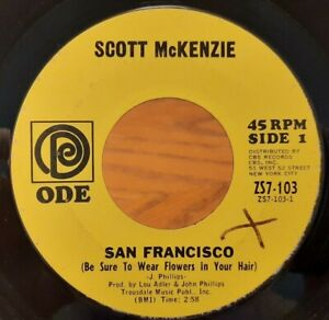 """Scott McKenzie - San Francisco/What's The Difference 7"""" single 45rpm (1967)"""