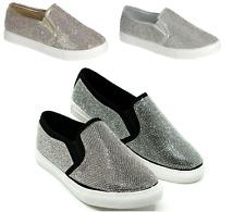 New Women's Rhinestone Slip On Flat shoes Casual comfort Sneakers Sz 6-10