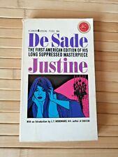 Justine by Marquis De Sade 1964 US 1st/1st PBO Lancer - Vintage