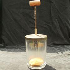 Hazel Atlas Clear Glass Vintage Food Chopper Antique Plunger Jar Wooden Handle