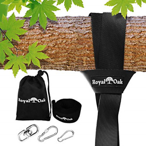EASY HANG (8FT) TREE SWING STRAP X1 - Holds 2200lbs. - Heavy Duty Carabiner -...
