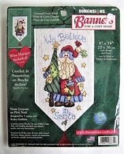 ✔️ We Believe in Santa Claus Banner Cross Stitch Kit Dimensions 8674 NEW 8 x 14""