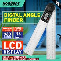 "8"" Electronic Digital Protractor Goniometer Angle Finder Miter Gauge 2 batteries"